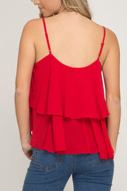 'PARRISH' Swing Tank - Red