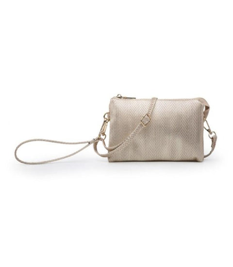 RILEY Crossbody/ Wristlet- CHAMPAGNE