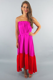 'RILEY' Colorblock Maxi Dress