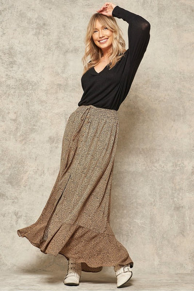 HARVEY Animal Print Maxi Skirt