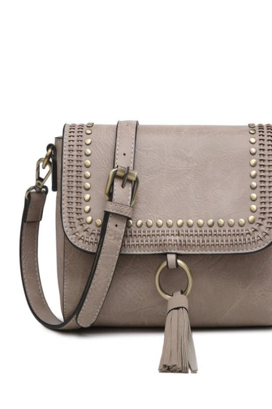 SAGE Studded Crossbody Bag