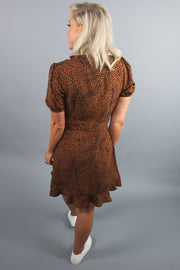 'SASHA' Leopard Wrap Dress
