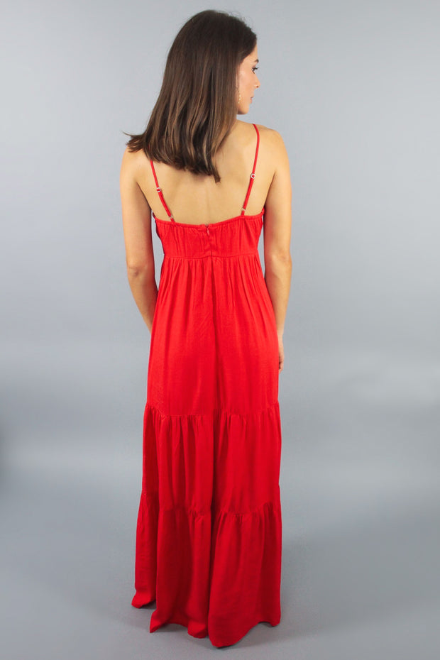 'PIPPA' Red Maxi Dress
