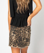 'SHARON' Distressed Buddy Love Mini Skirt