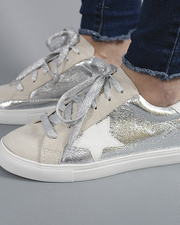 GG Star Sneakers - Silver