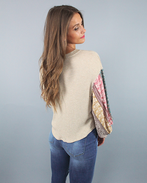 'TAYLOR' Printed Sleeve Top