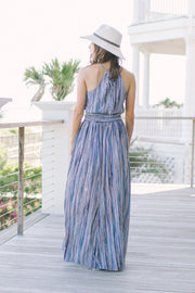 'WALKER' Stripe Maxi Dress