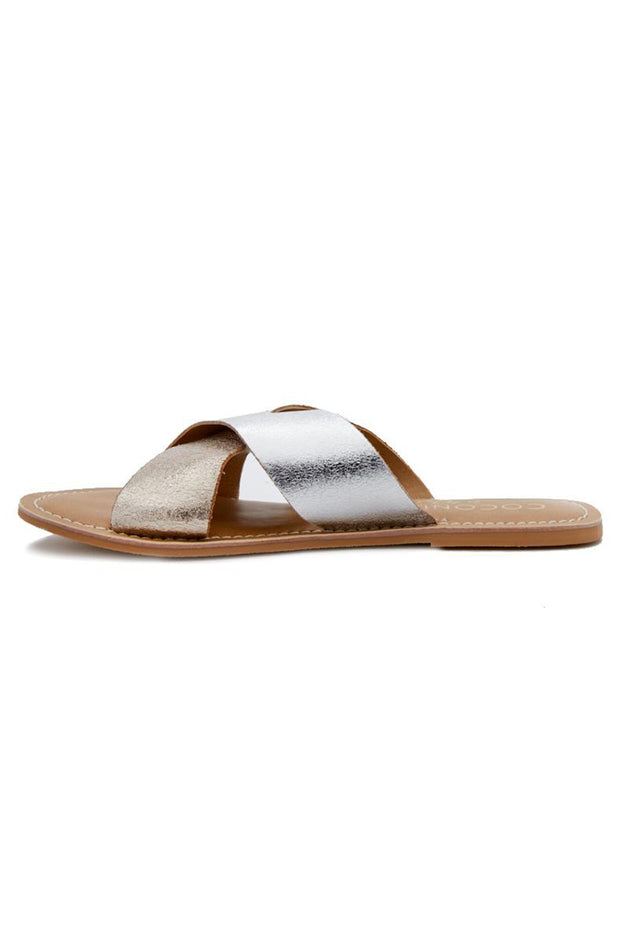 'WILMA' Gold & Silver Sandal - Coconuts by Matisse