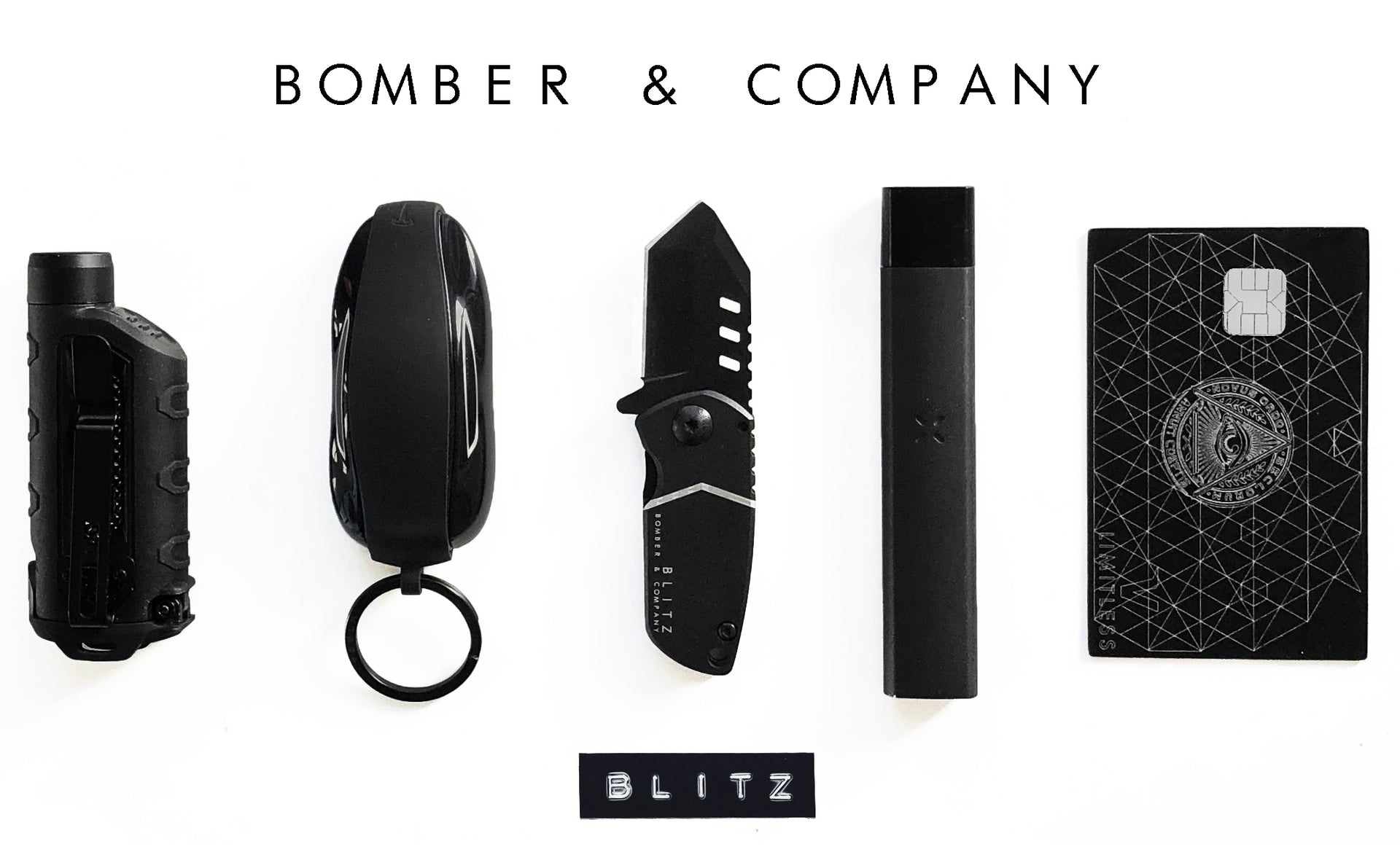 BLITZ Tactical Pocket Knife (Straight Edge)