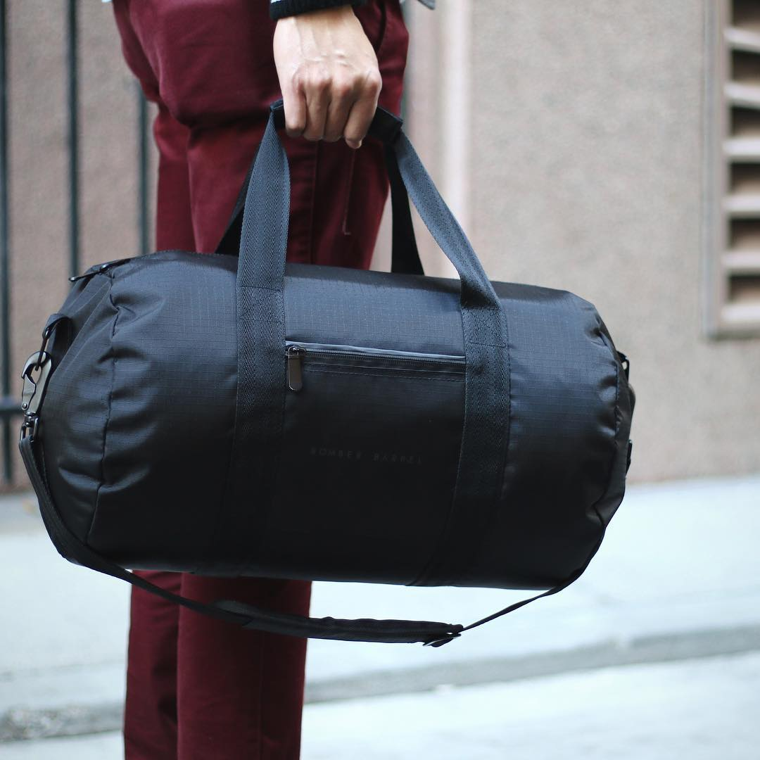 Bomber Barrel Duffle Set
