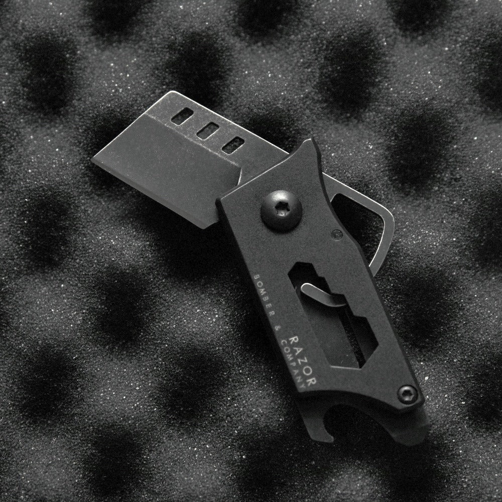 "Razor ""Not Your Average Box-Cutter"" - Ultimate everyday carry utility pocket knife by Bomber & Company. www.bomberco.com"