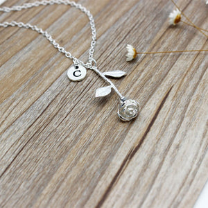The Darlene - Personalized Rose Necklace