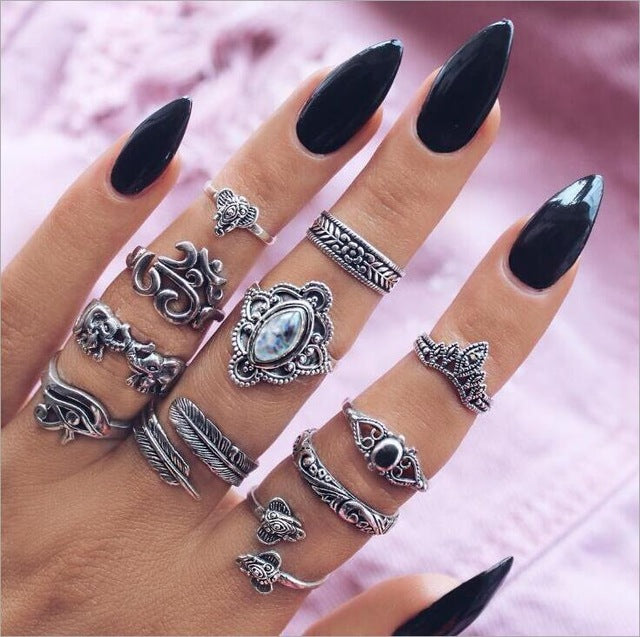 The Hazel - Boho Ring Set