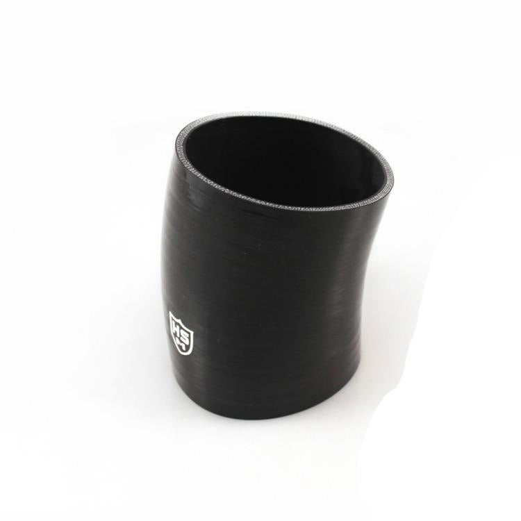 "4""X 4"" Silicone 20° Elbow Hose (Black 5 Ply)"