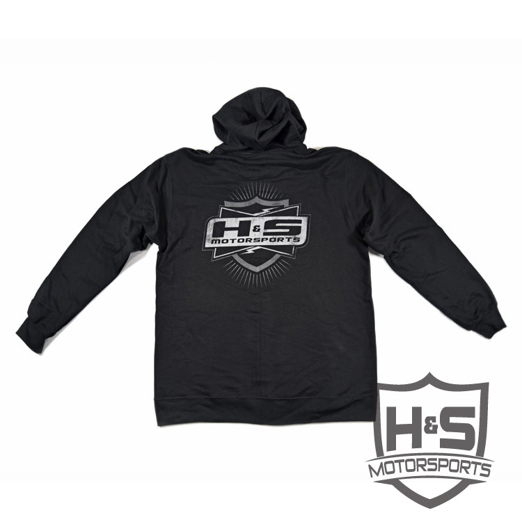 "Men's ""Retro"" Zip-Up Hoodie - Black"