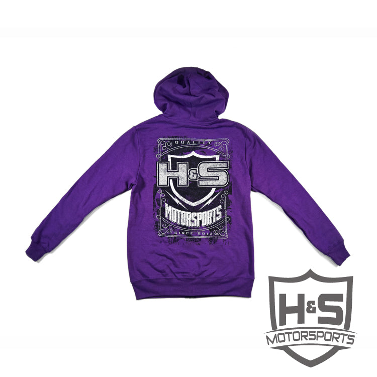Women's Zip-Up Hoodie - Purple