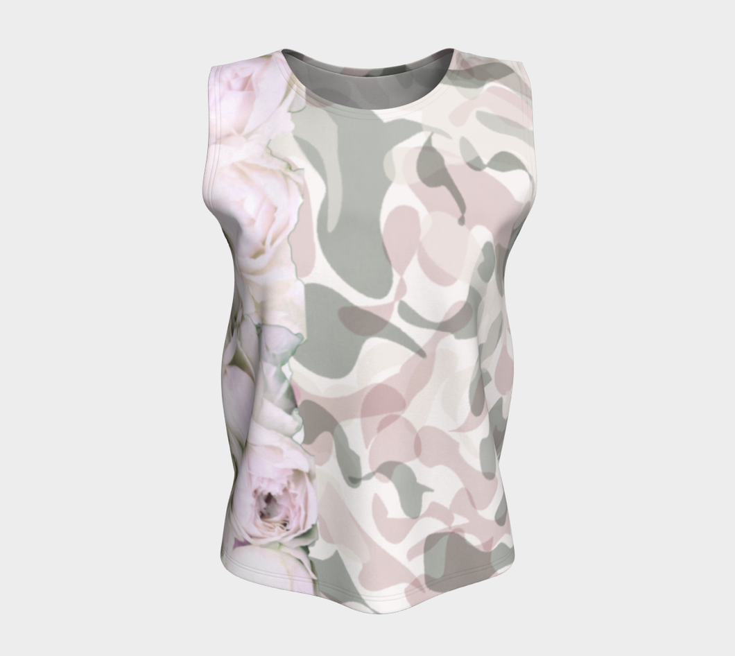 Camouflage and peonies