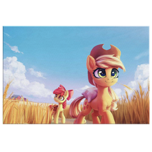 Open Fields with Apple Jack and Apple Bloom
