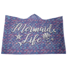 Mermaid Life Hooded Blanket
