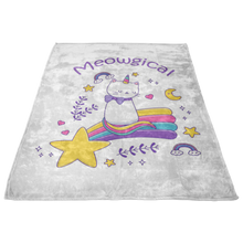 Meowgical Cat Unicorn Fleece Blanket