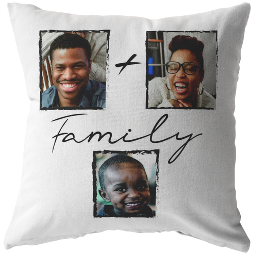 Personalized Family of 3 Pillow