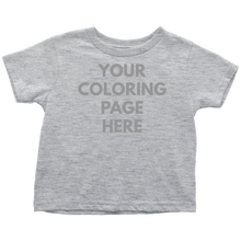Blank Toddler Tee for Coloring Page
