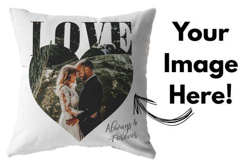 Personalized Love Heart Pillow