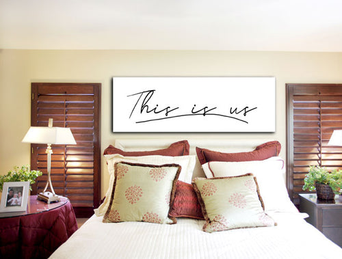 Home Decor: This is us (Wood Frame Ready to Hang)