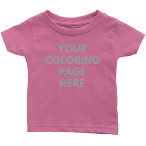 Blank Infant Tee for Coloring Page Print