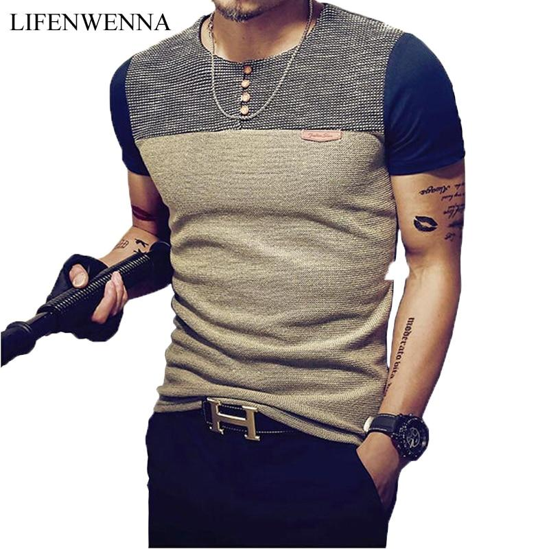 Patchwork Men's T Shirt - LM Collection