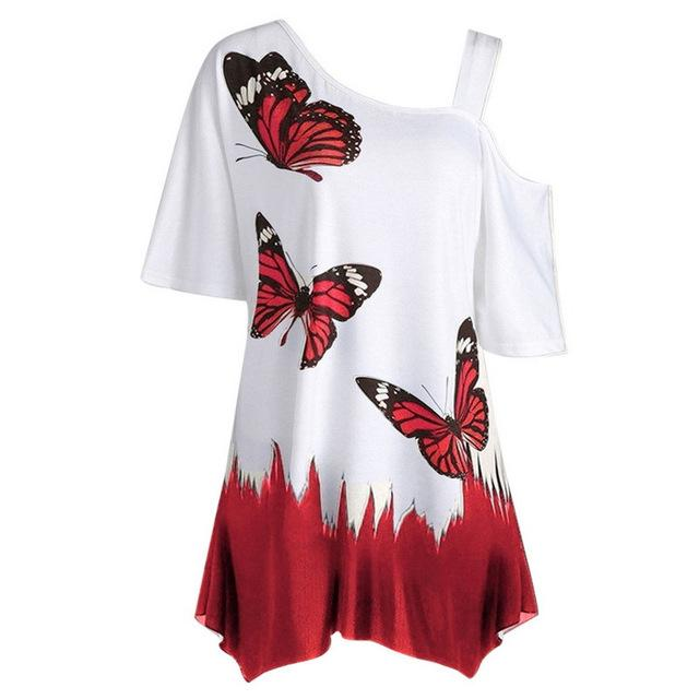 Butterfly Printed T-Shirts Women - LM Collection