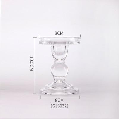 Transparent Crystal Candlestick - LM Collection
