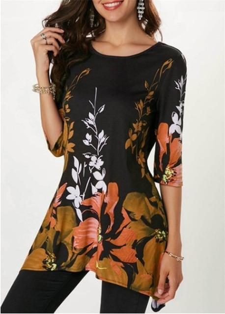 Floral Print Casual T Shirts Tops - LM Collection