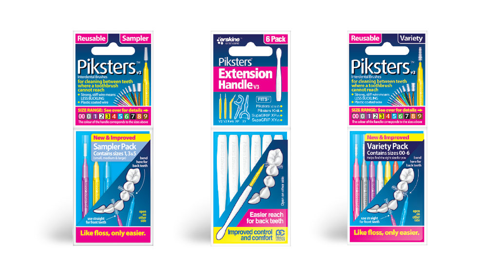 Piksters sample pack, extension handles and variety pack