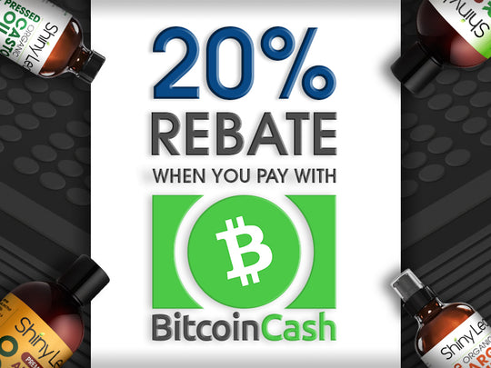 BUY WITH BITCOIN CASH, GET 20% REBATE