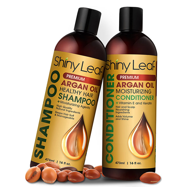 Shiny Leaf Argan Oil Shampoo and Conditioner Set