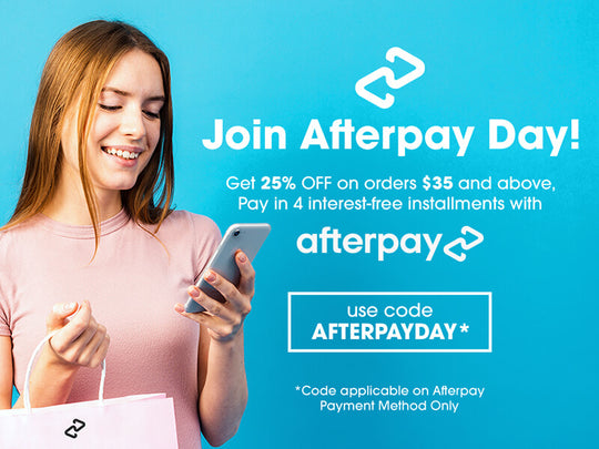 Afterpay Day Sale on All Shiny Leaf Products