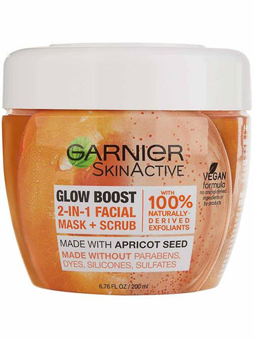 Garnier Glow Boost 2-in-1 Facial Mask and Scrub