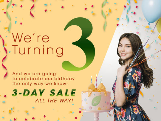 IT'S OUR 3RD BIRTHDAY!!! Enjoy special 3-day sale
