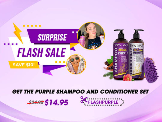 Surprise Flash Sale of $10 OFF on Purple Haircare Set