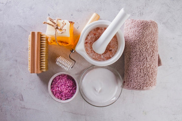 Salt scrubs and other bath products