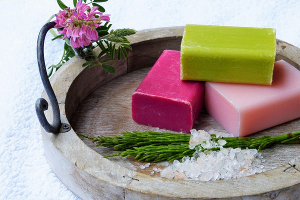 Soaps with different colors