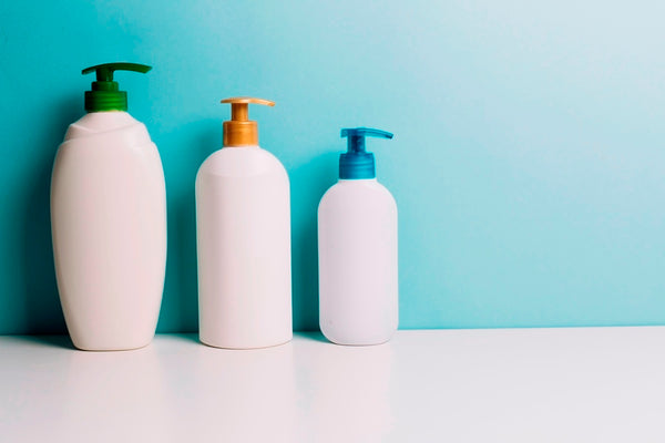 Shampoo in different containers