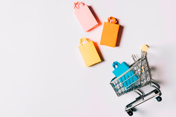Cart and shopping bags