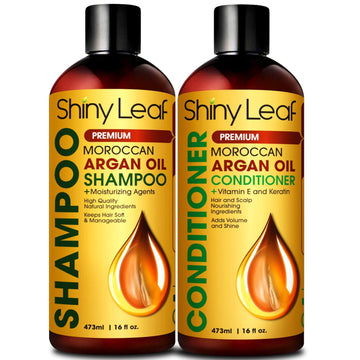 Argan Oil Shampoo and Conditioner Set Premium, Natural, Paraben & Sulfate Free
