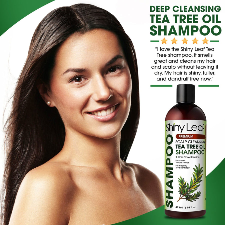 Tea Tree Oil Shampoo and Conditioner Set - Natural Anti Dandruff & Lice Treatment
