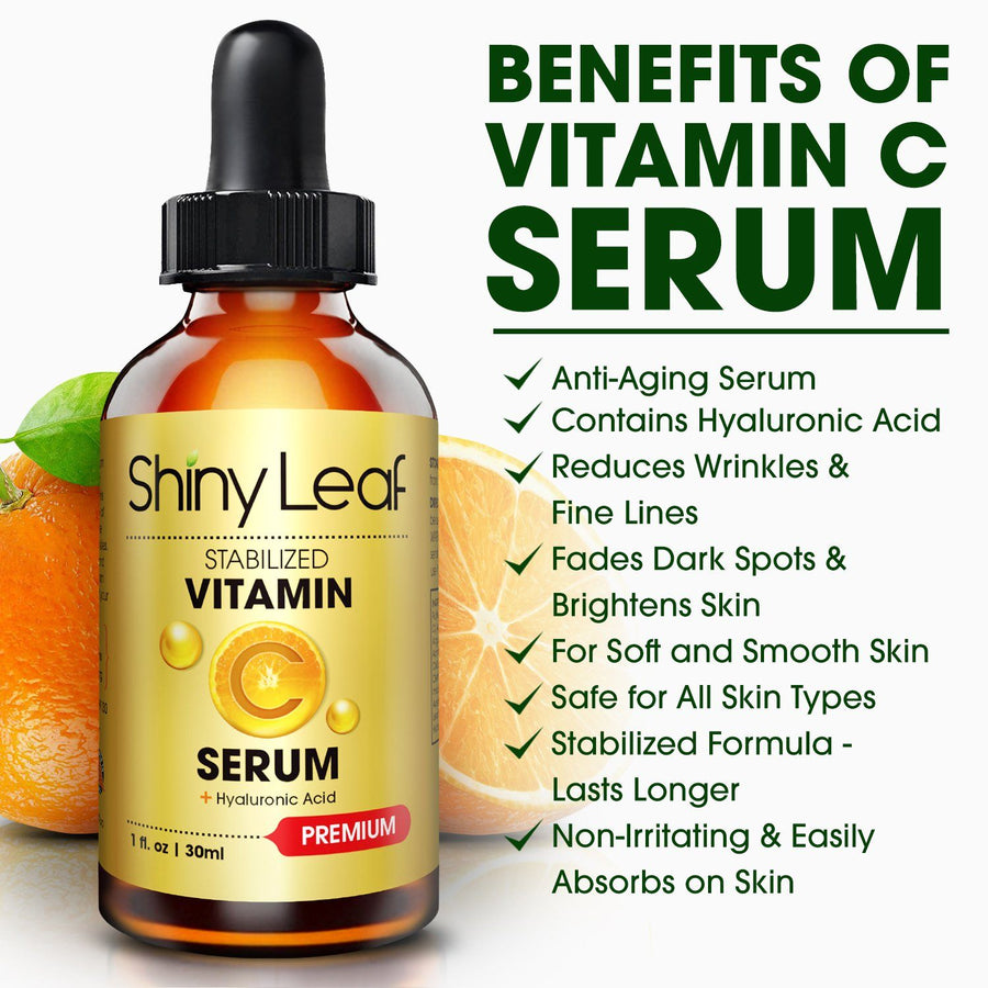 Hyaluronic Acid and Vitamin C Anti Aging Serum Set For Face