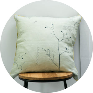 Moonlight Begonia Linen Cushion Cover