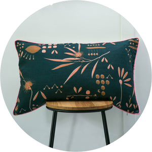 Horizontal Hakea Moonrise Linen Cushion Cover