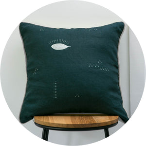 Botanical Eclipse Linen Cushion Cover